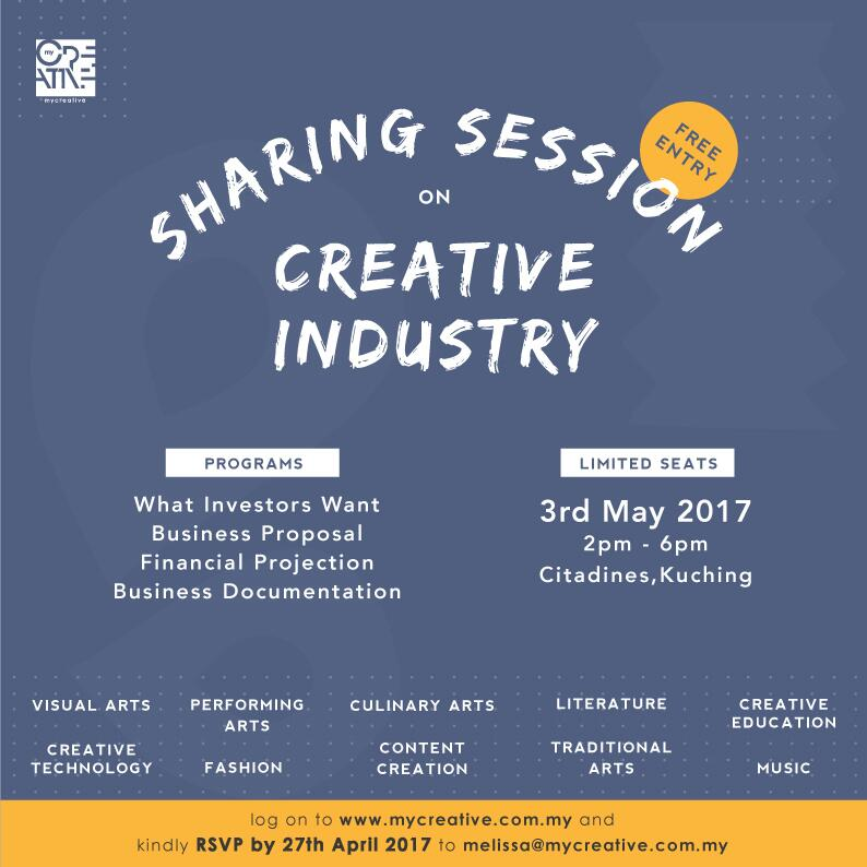 SHARING ON SESSION ON CREATIVE INDUSTRY