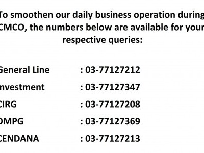 CONTACT NUMBER DURING CMCO