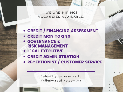 Job Vacancies at MyCreative