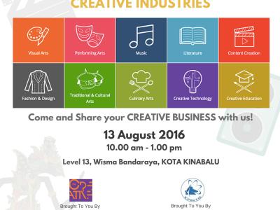 FUNDING OPPORTUNITIES FOR CREATIVE INDUSTRIES - KOTA KINABALU