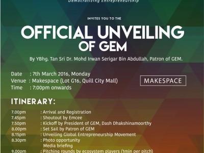 Official Unveiling of Global Entrepreneurship Movement