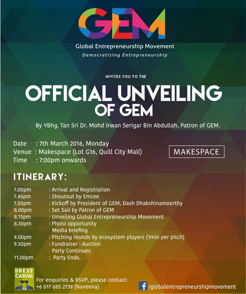 Official Unveiling of Global Entrepreneurship Movement